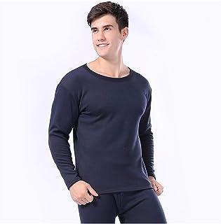 Women Men Thermal Underwear Autumn Winter Thicken Lovers Pajama Keep Warm Clothes Cotton Set Elasticity (Color : Men 1, Si...