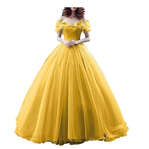Yellow Off Shoulder Prom Dress Amazon.com