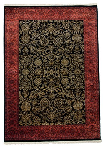 Parwis Teppich, Schwarz, 200x250 cm