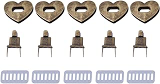 Heart Shape Clasp Turn Lock,Metal Clasp Turn Lock Twist Lock Hardware Handbag Bag Accessory Pack of 2(Bronze)