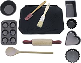 R&M International 2252 Junior Cookie and Baking Set, Includes Pans and Tools, 11-Piece Set