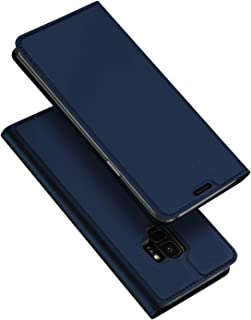 Bubunix Flip Case Compatible with Samsung Galaxy S9, S9 PU Phone Cover, Business Style Leather Flip Protective Case Pouch for S9 (Blue)