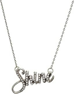 Brighton Shine Script Necklace