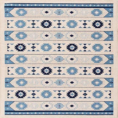 WQ-BBB Higroscópico Comedor La Alfombraes Decoración Azul marrón tapetes para Mesa Estilo étnico Retro Bonita Antideslizante jarapas 80X120cm