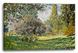Leinwand (120x80cm): Claude Monet - Landschaft am Park