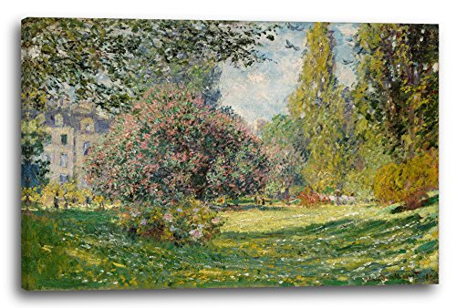 Leinwand (120x80cm): Claude Monet - Landschaft am Park Monceau (1876)