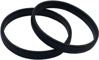 NewSilkRoad Men's Shirt Sleeve Metal Armbands/Garters/Holders (Black)