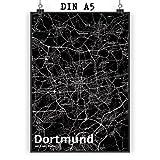Mr. & Mrs. Panda Poster DIN A5 Stadt Dortmund Stadt Black -
