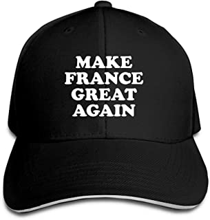 PINE-TREE-CAP Adult Vintage Make France Great Again Snapback Hat Dad Hat Black Sandwich Peaked Cap Black
