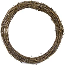 Natural Rattan Wreaths Christmas Craft Rattan Grapevine Wreaths Front Door Wall Hanging for DIY Holiday Party Decors Seaso...
