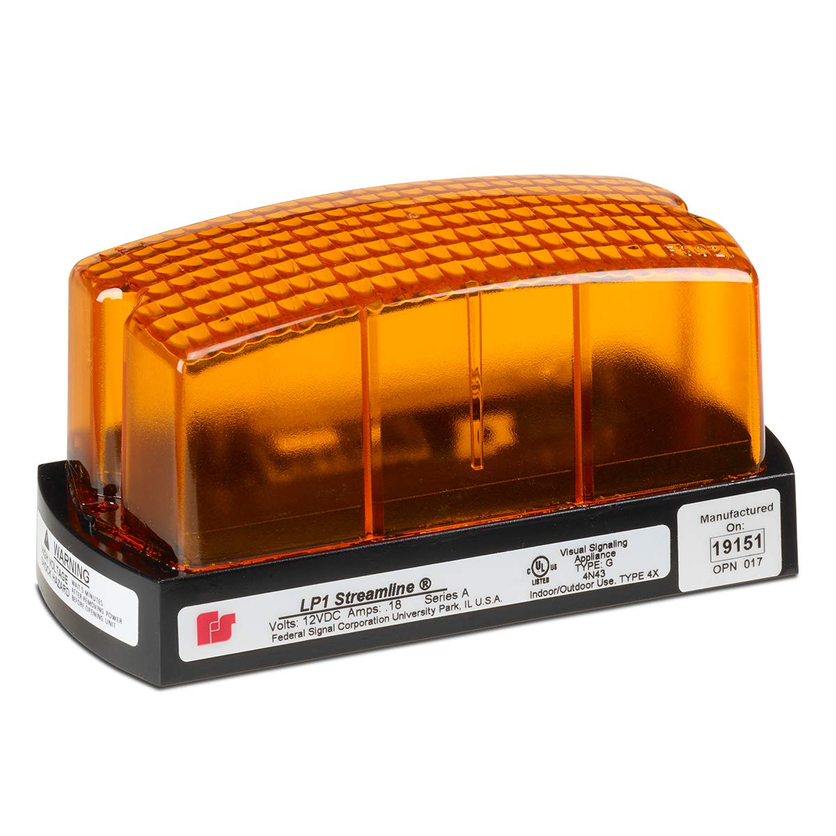 Federal Signal LP1-024A Streamline Low Mini Strobe National products Light Profile Chicago Mall