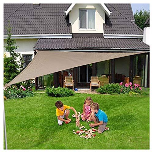 CAISYE Sonnensegel Dreieckig Mit LED -Lichtern, Sonnenschutz DIY Resistant Wetterschutz 95% Beschattung Uv Schutz Für Garten, Terrasse, Balkon Und Camping,5X5X5m