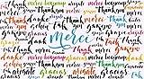 afie 69-4223 Carte Merci Remerciements Paillettes Merci Remerciements...