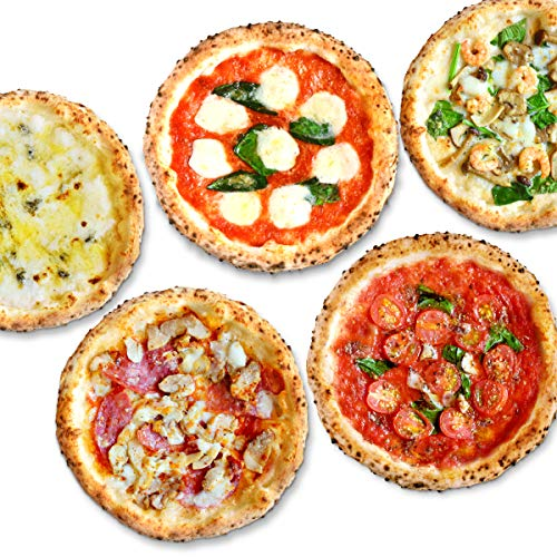 【公式】【冷凍ピザ】PIZZA SALVATORE CASA ナポリピッツァパーティセット 5枚 (マリナーラ、ナポリサラミとチキンのピリ辛ピッツァ、プレミアムマルゲリータ、4種のチーズのピッツァ、海老とキノコのクリームピッツァ) (直径21cm×5枚) 国産小麦 手作り 窯焼き サルヴァトーレ クオモ