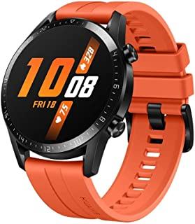 Watch GT 2 2019 Bluetooth SmartWatch, Longer Lasting 2 Weeks Battery Life, Waterproof, Compatible with iPhone and Android, 46mm No Warranty International Version (Sunset Orange) (Renewed)