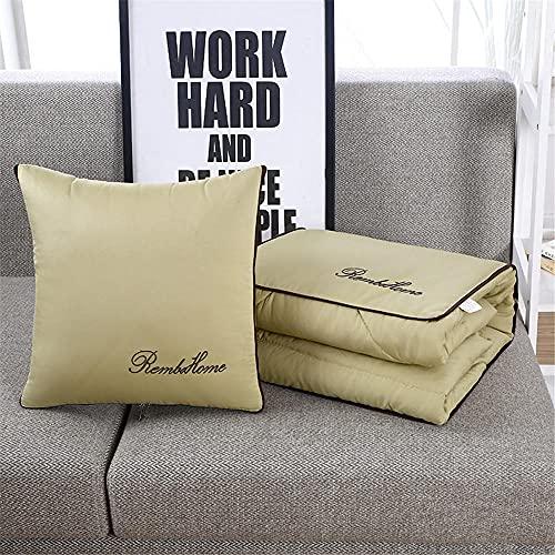 Cojín Manta 2 en 1 Amarillo Almohada Edredón Multifuncional Almohada Manta Respaldo Cojín Suave y Decorativa Siesta Cojines para sofá Cama Silla de Oficina