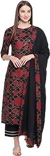 Khushal K Women's cotton straight Salwar Suit Set