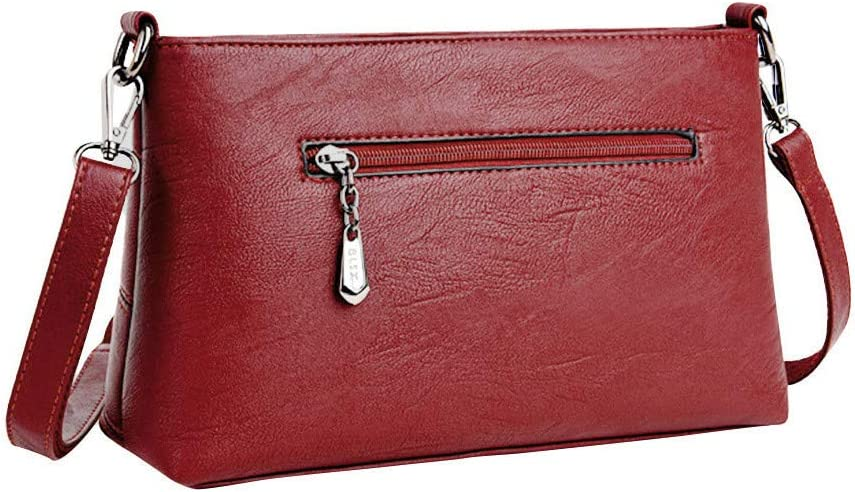 Kulywon Women Handbag Leather Plaid Messenger bag Shoulder Small square package