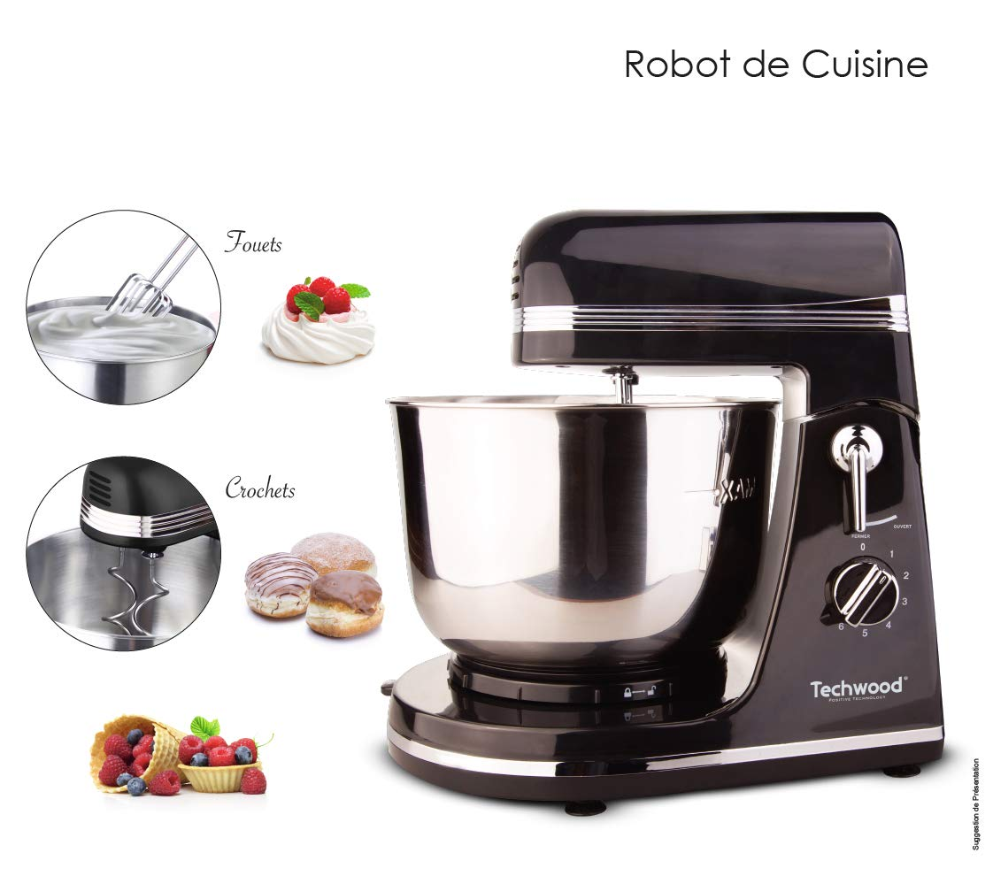 Techwood - Robot de cocina (3,5 L-300 W), color negro: Amazon.es: Hogar