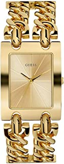 Guess ladies g twist Womens Analog Quartz Watch with Stainless Steel Gold Plated bracelet W1117L2