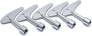 Tulead Inner Triangle Spanner Key Elevator Key Door Latch Triangle Door Lock Metal Door Release Key 2.4