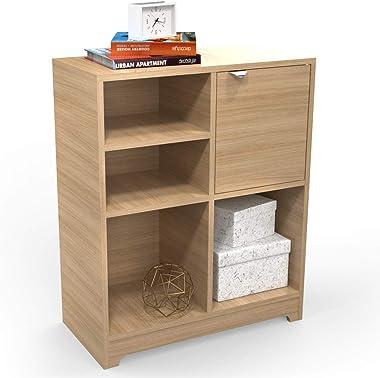 HomeStrap Trends Engineered Wood Side Storage Unit/Organiser for Living Room Decor/Office|Urban Teak