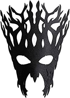 Sweenaly Womens Unique Tree Trunk Mask Sexy Elegant Eye Face Mask Mysterious For Halloween Masquerade Ball Mardi Gras Christmas Easter Cosplay Party Black
