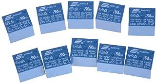 10pcs SRD-05VDC-SL-C PCB for SONGLE DC 5V Mini Power Relay 5 Pin SRD-5VDC-SL-C Blue
