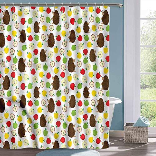 Kleiner Duschvorhang Igel Baby Tiere Äpfel Duschvorhang