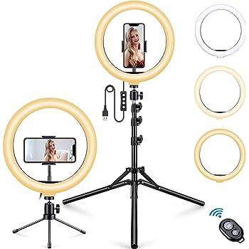 """10 /""""Ring Light Selfie Light Ring 2900 5500K 120 Lampen Dimmbare Beauty Desktop"""