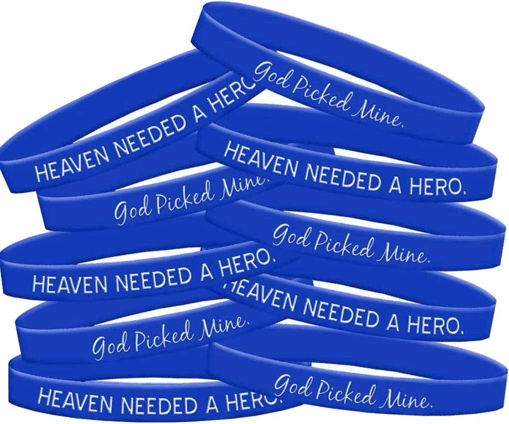 Fight Like a Girl Heaven Needed a Hero God Picked Mine Silicone Wristband Bracelet 10-Pack Assorted Colors
