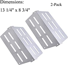"""GasSaf Heat Deflector Replacement for Weber 7622,Genesis 300 Series(2011 & Newer) E-310 E-320 E-330 S-310 S-320 S-330 with Front-Mounted Control, Replace for Weber 65505/62756(2PCS,13 1/4"""" x 8 3/4"""
