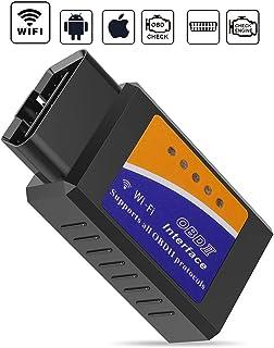 GeekerChip Voiture Outil de Diagnostic pour OBD II, Mini Adaptateur sans-Fil Scanner Code..