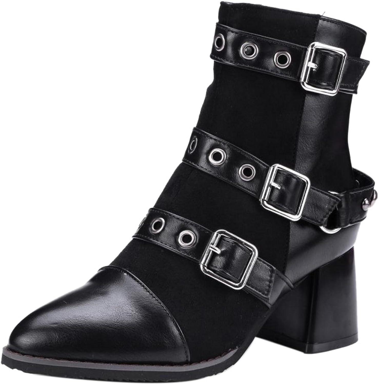 FizaiZifai Women Stylish Bootie Boots Zipper