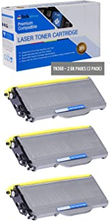 Inksters Compatible Toner Cartridge Replacement for Brother TN360 Black - Compatible with HL 2120 2125 2140 DCP 7030 7040 MFC 7440N 7840W (3 Pack)