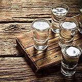 Relaxdays 6er Set Schnapsgläser, Pinnchen aus Glas, 4 cl, für Liköre, Kaffee, Karneval, spülmaschinenfest, transparent - 2