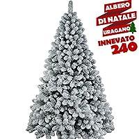 L'atmosfera Natalizia è di fondamentale importanza per la nostra casa, l'attesa del Natale è un momento magico per grandi e piccini, fa che questo albero possa arredare la tua casa in modo splendido ed armonioso. L'albero è molto folto, completamente...