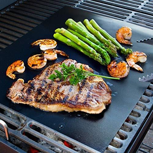 LYTEDB BBQ Grill Mat Set Stick Pad voor Gas Gemakkelijk Bakplaat Rooster Cover Barbecue pad BBQ Accessoires
