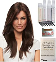 Bundle - 8 items: Zara Petite Wig by Jon Renau, Christy's Wigs Q & A Booklet, 2oz Travel Size Wig Shampoo, Conditioning Spray, Flexible Spray, HD Smooth, Wide Tooth Comb & Wig Cap - Color: 1B