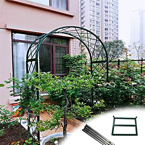 Gnova Arco para Enredaderas,Pérgola metálica de jardín,Arco Enrejado Enrejado,con Base y Varillas de Tierra,1.2 m,1.5 m,1.8 m,2 m,3 m
