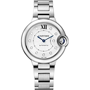 Cartier Ballon Bleu 33mm Ladies Automatic Stainless Steel with Diamond Dial Watch - WE902074