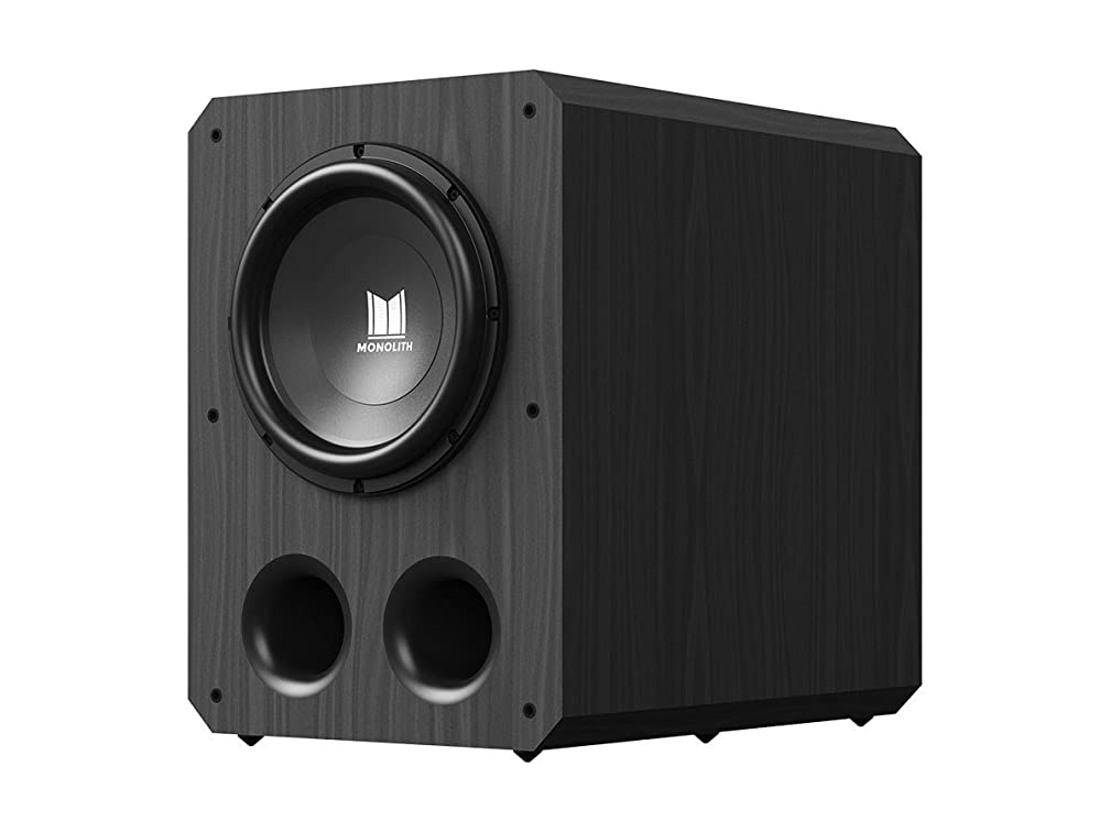 Monolith 12 Inch Powered Subwoofer - Black   THX Select Certified, 500 Watt Amplifier, 12 Inch Driver for Studio & Home Theater