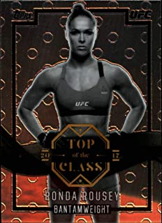 2017 Topps Chrome Top of the Class UFC #TC-RR Ronda Rousey Official MMA Trading Card (Scan streaks are NOT on the card itself)