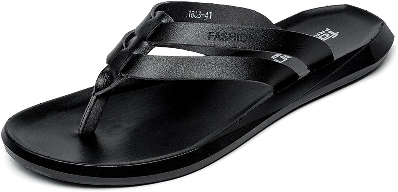 BINSHUN Men Thong Sandals Flip Flops Lightweight Non-Slip Classic Beach Slippers