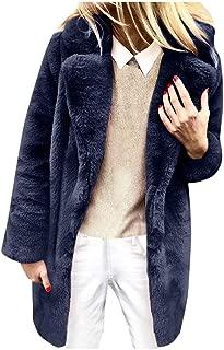 Ladies Faux Fur Coat Long Parka Coat Fluffy Long Sleeve Winter Coat Thick Coat Warm Outwear Elegant Casual Jacket