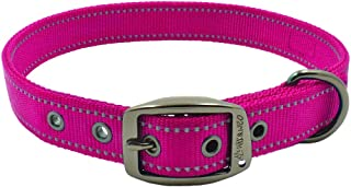Max and Neo MAX Reflective Metal Buckle Dog Collar - We Donate a Collar to a Dog Rescue for Every Collar Sold