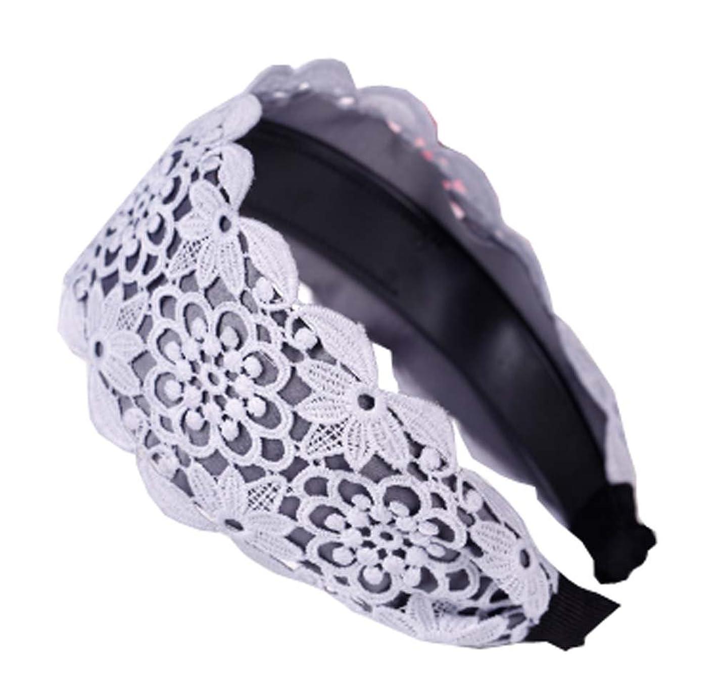ヒューバートハドソンメイド赤ちゃん女性のための1 PCのクリエイティブファッションヘッドバンド、結婚式のヘッドバンド、ホワイト