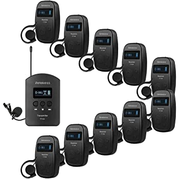 Gericht Regierung 4 Sender 60 Empf/änger 1 Ladekoffer Schulung Retekess T130-T131 Tour Guide System Wireless Audio Tour Guide System mit TT006 64-Slot-Ladekoffer f/ür Dolmetschen