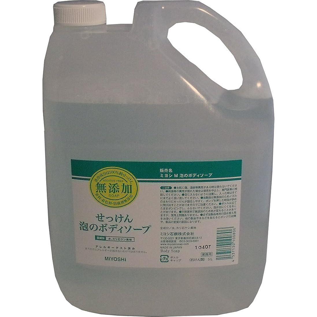スキャン病者パースブラックボロウ合成界面活性剤はもちろん、香料、防腐剤、着色料などは一切加えていません!無添加せっけん 業務用 泡のボディソープ 詰替用 5L【4個セット】