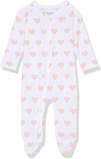 Petit Bamboo Baby Body Suit, Pink Hearts